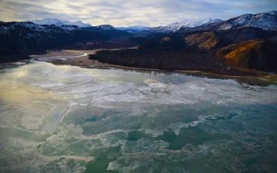 Helicopter Ride : Chinitna Bay, Alaska