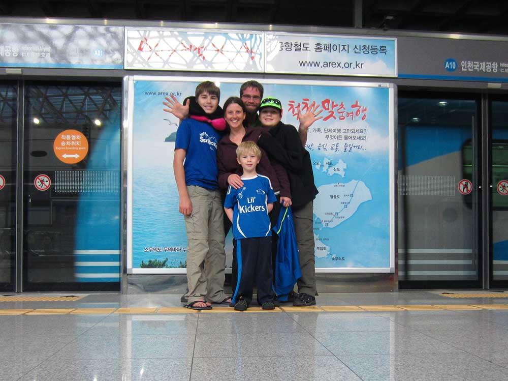 South Korea Train Station