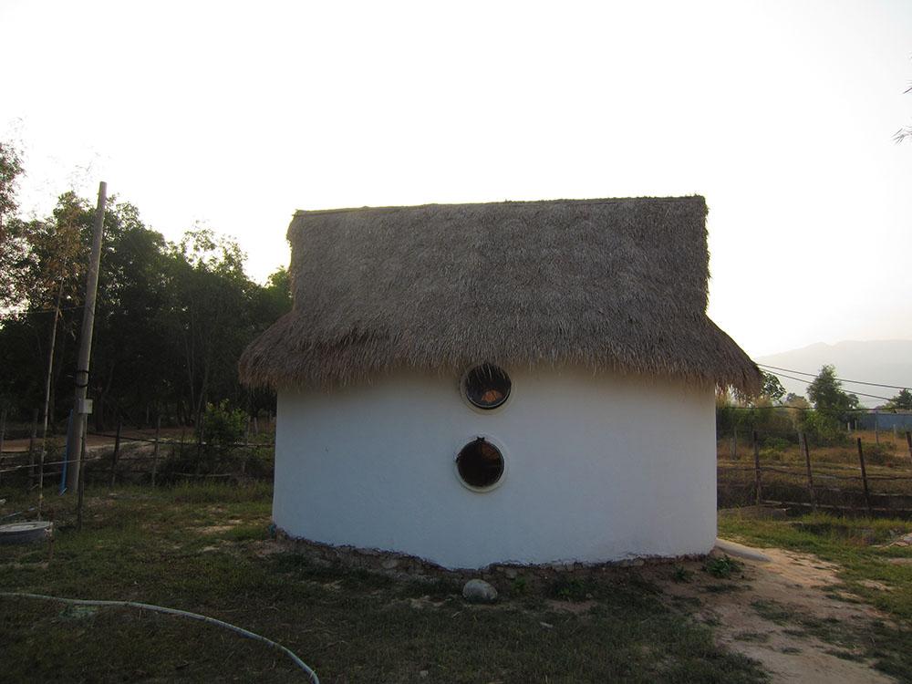 Our hut, 5 km outside Kampot, Cambodia.
